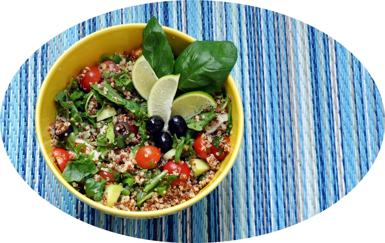 Sommersalat mit Quinoa (vegan)
