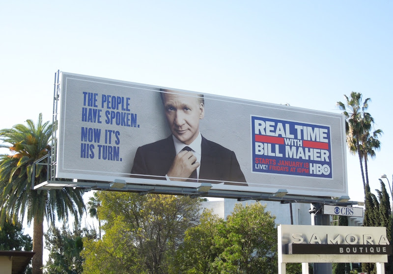 Real Time Bill Maher people spoken billboard