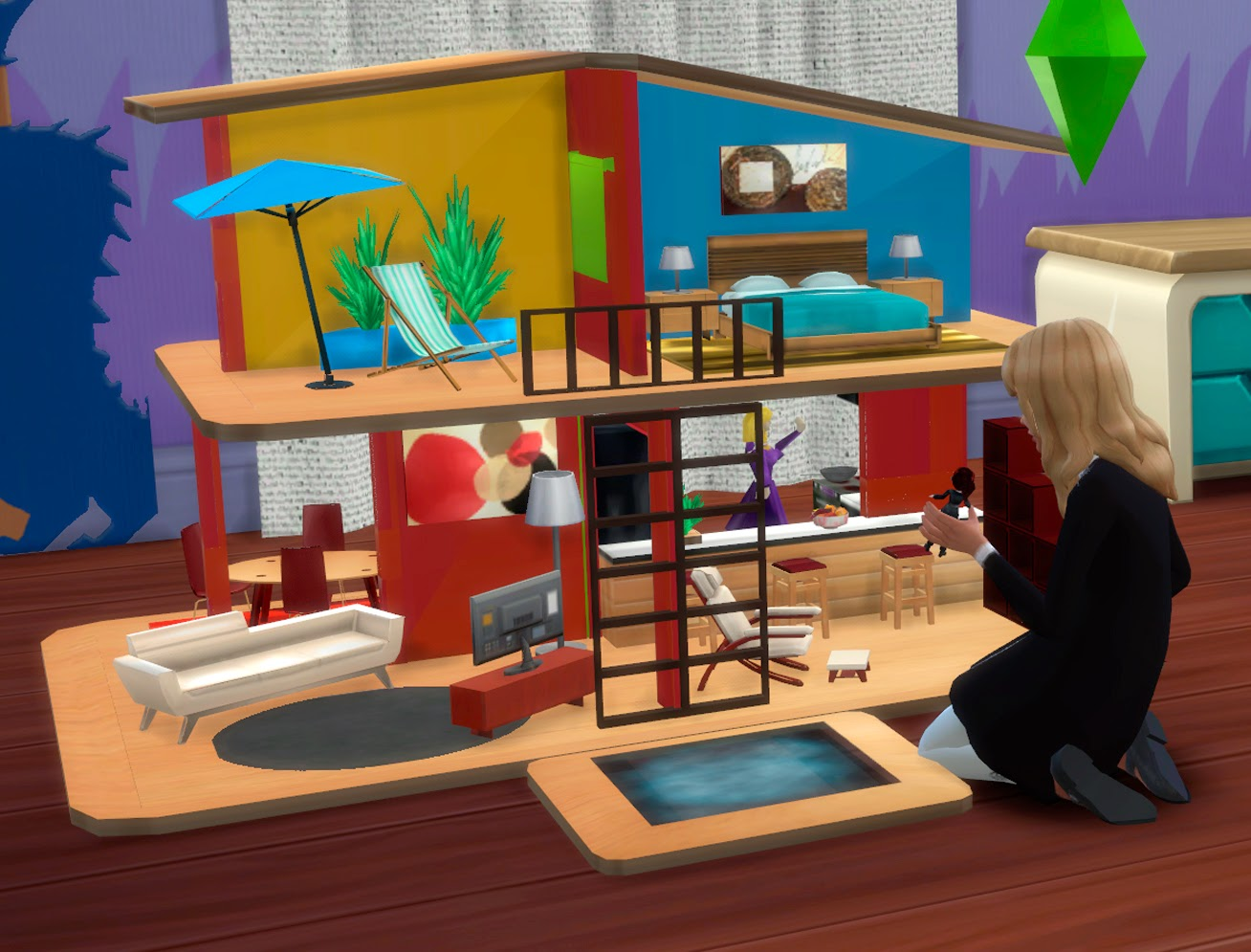 Sims 4 juguetes grandes casa de mu ecas y mr potato for Muebles de cocina sims 4