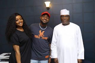 Davido & Girlfriend Chioma Meet 2019 Presidential Candidate Atiku Abubakar