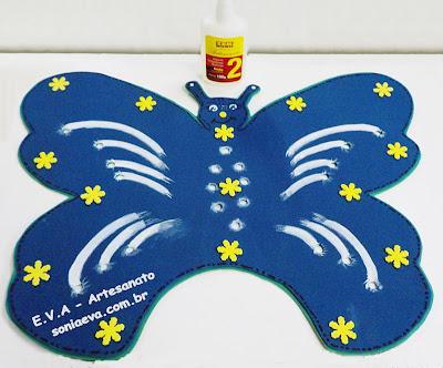 Tapete borboleta de EVA, para porta