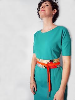 ékicé créatrice robe turquoise vetements paris paris14 couture tissus japonais japonisant artisan couleur vetements colorés fait main mode responsable imadeyourclothes marque francaise artisane createur