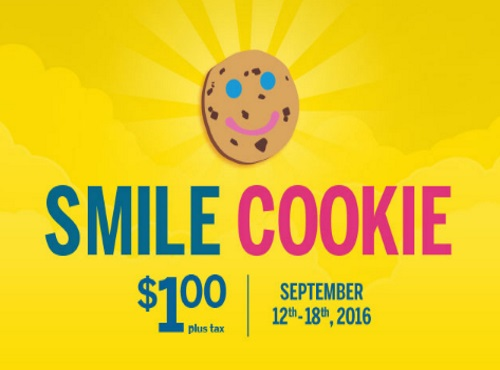 Tim Hortons $1 Smile Cookies