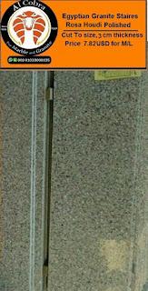 Egyptian Granite Rosa Houdi staires