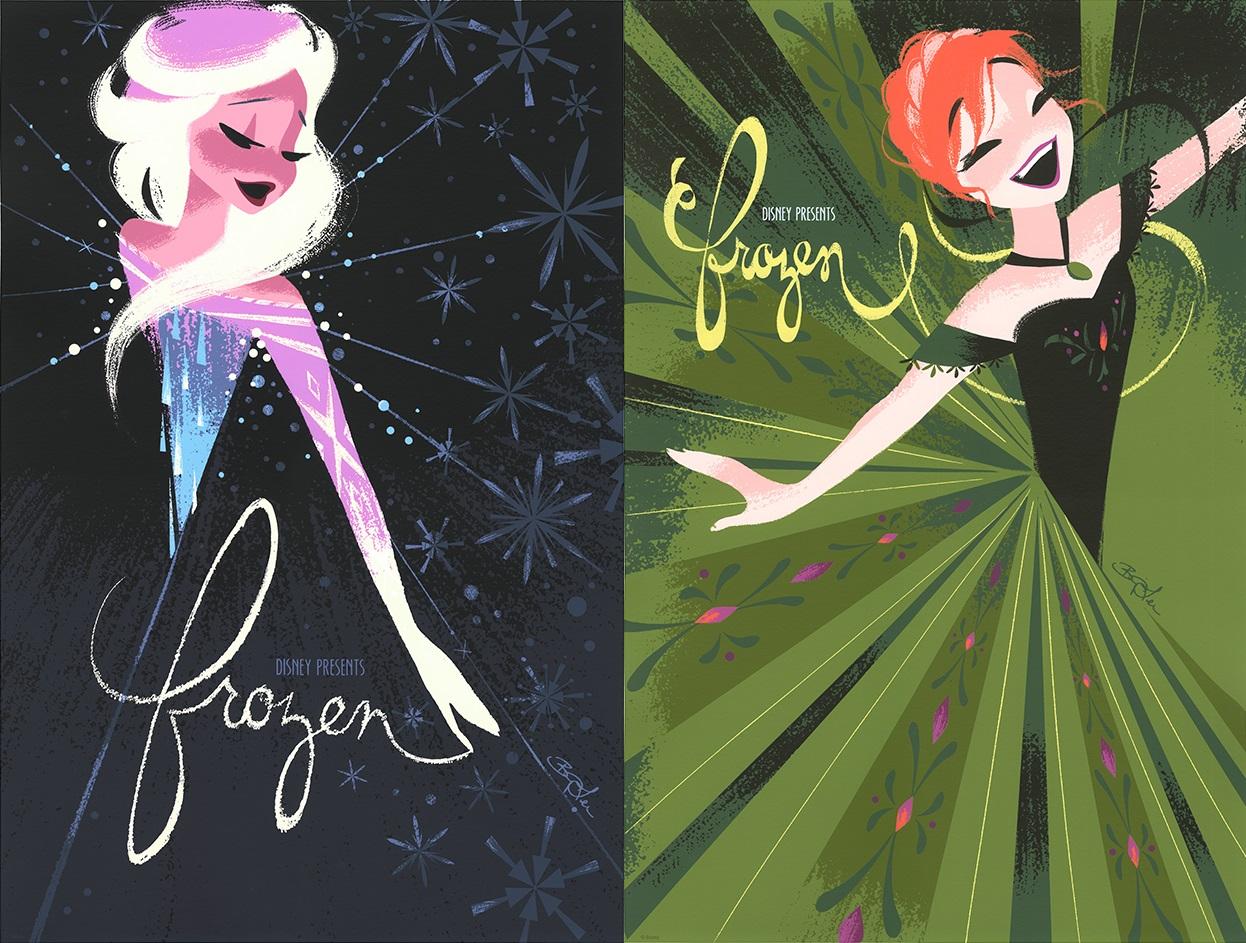 "The Blot Says   : Frozen ""Anna"" & ""Elsa"" Screen Prints by"