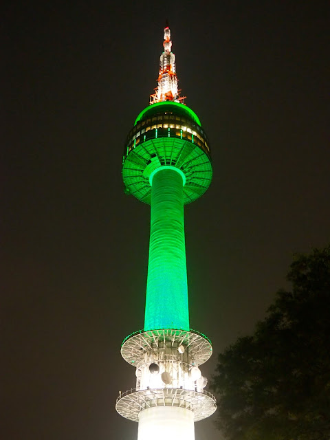 N Seoul Tower at night, Seoul, South Korea