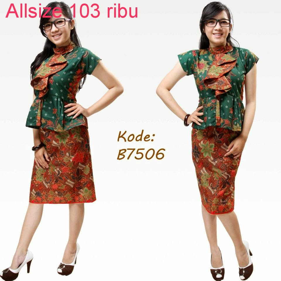 Model Baju Batik Modern Untuk Kerja Wanita: Design Model Baju Batik Kerja