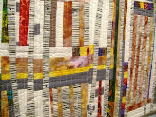 Summer Aspen improv quilt by Monica Curry | Detail 2
