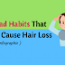 12 Bad Habits That Can Lead To Hair Loss (Infographic)