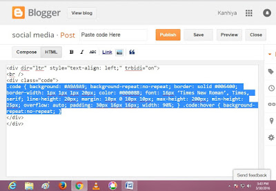 Blogger Blogspot Post editor