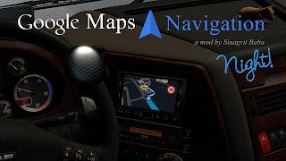 Google Maps Navigation Night Version