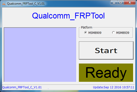 Qualcomm FRP Tool C v1.01.001 Direct Download FRP Solution - Android