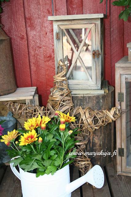 terassi kukka lyhty rustiikkinen