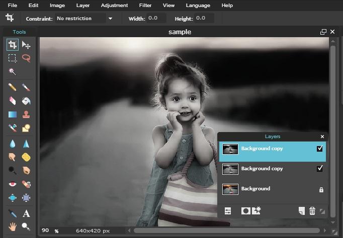 cara edit foto hitam putih
