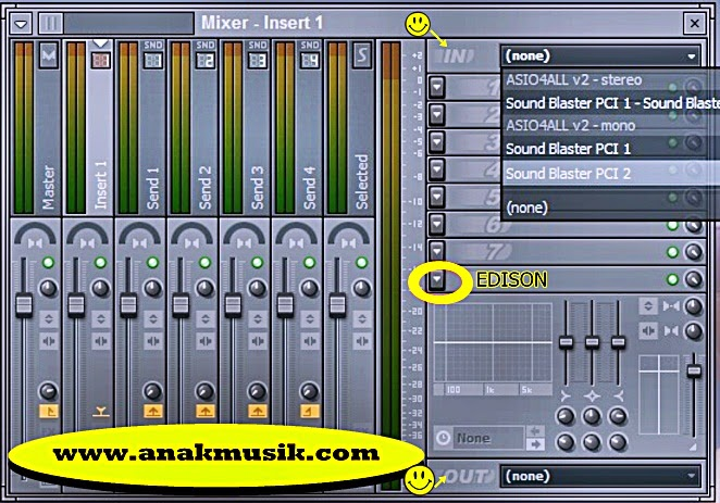 Pengaturan Input Mixer FL Studio (Fruity Loops)