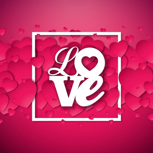 Valentine's Day - Pink red valentine love background free vector download