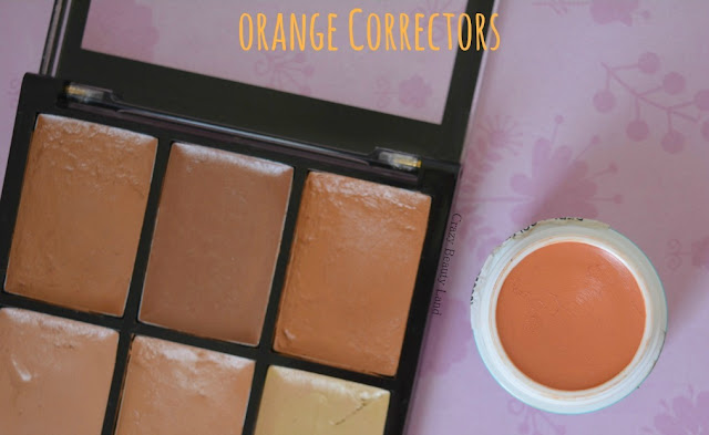 Different shades of affordable orange color correctors in India