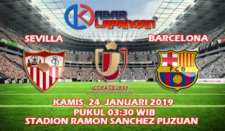 Prediksi Bola Sevilla vs Barcelona 24 Januari 2019