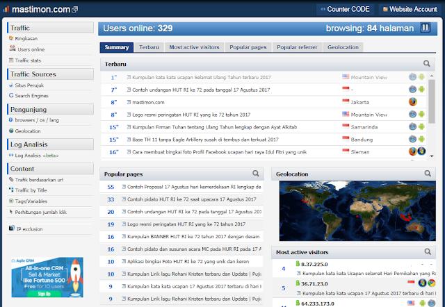 Cara Daftar dan Pasang Widget HISTATS Di Blog Untuk Mengetahui Jumlah VISITOR