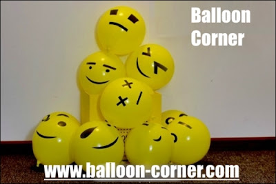 Balon Latex Printing Emoji / Emoticon (NEW MODEL)