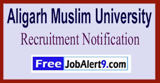 AMU Aligarh Muslim University Recruitment Notification 2017 Last Date 31-05-2017