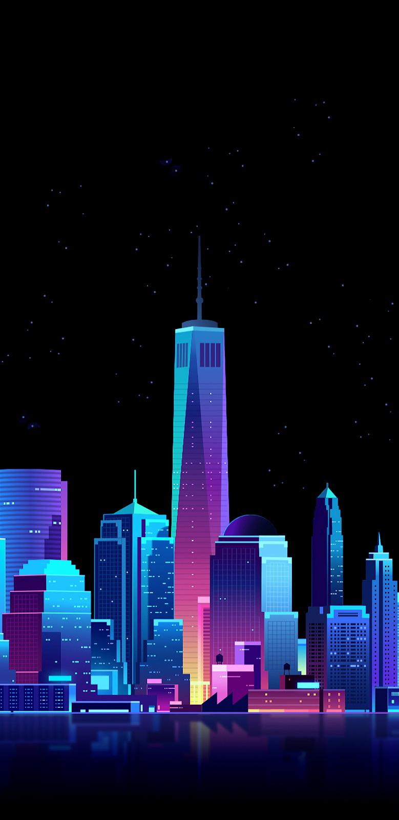 Colorful city Amoled