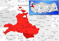 Sındırgı ilçesinin nerede olduğunu gösteren harita