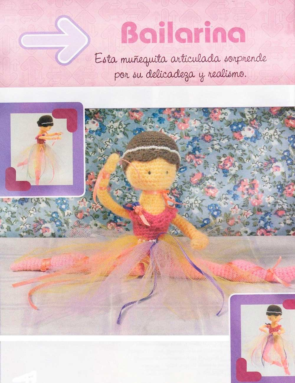 bailarina, amigurimi, articulada, ganchillo, crochet, juguetes de lana