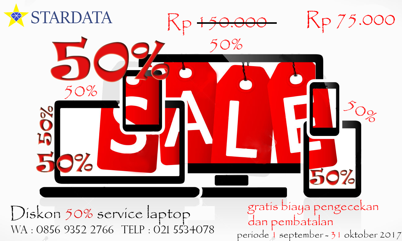 Promo Stardata Service Laptop dan Printer