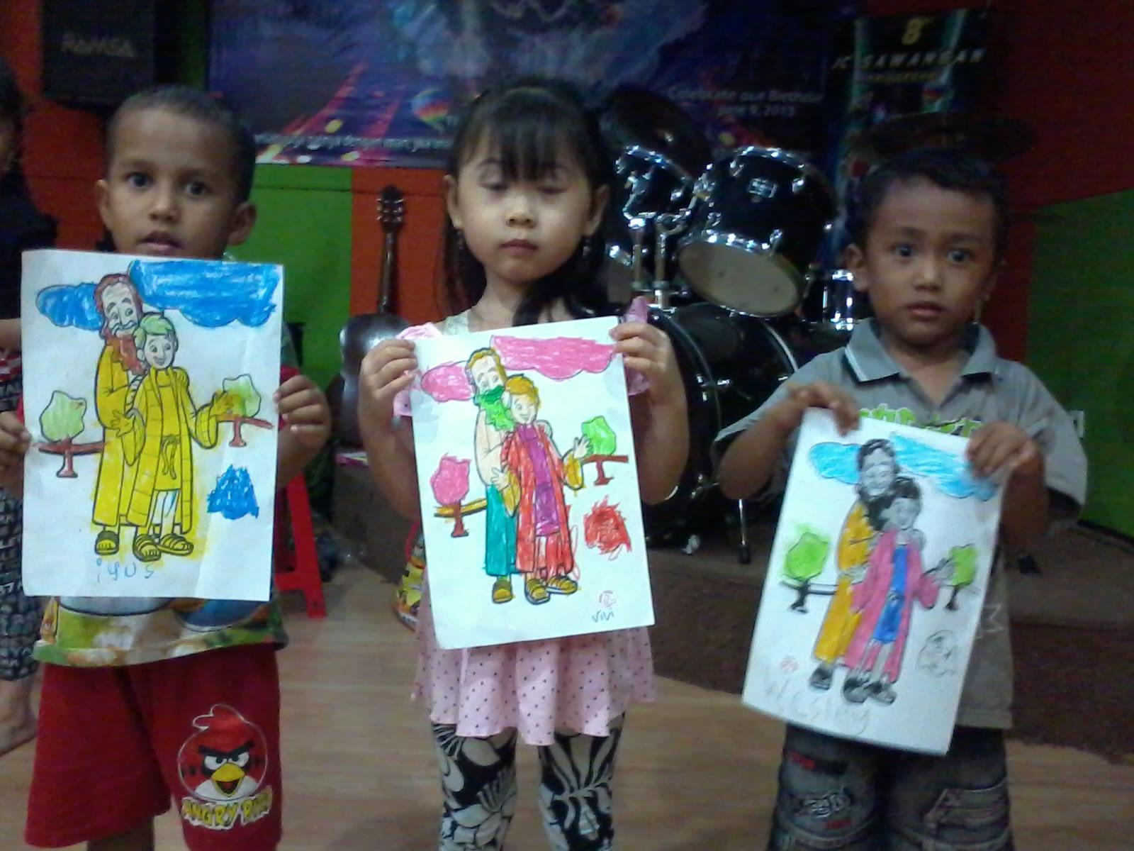 Gambar Pemenang Lomba Mewarnai Sekolah Minggu Sore Gereja Anak Kumpulan