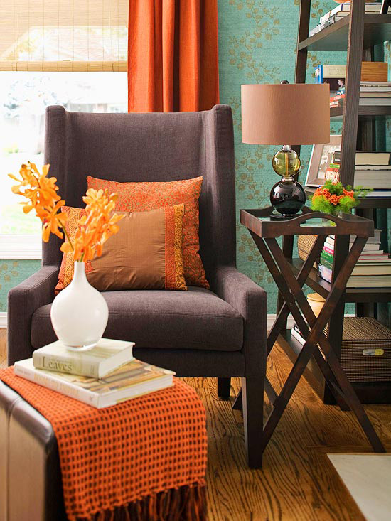 Postcards from the Ridge: Orange and Turquoise: A match made in ... - Turquise And Orange Home Decor