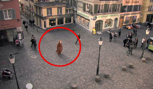He disguised himself wearing a costume. What happens next will make you think!