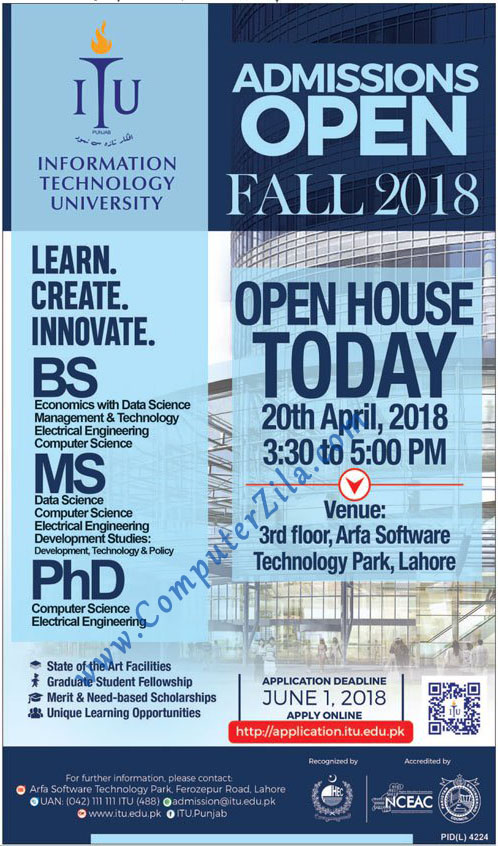 Information Technology University Admissions Fall 2018