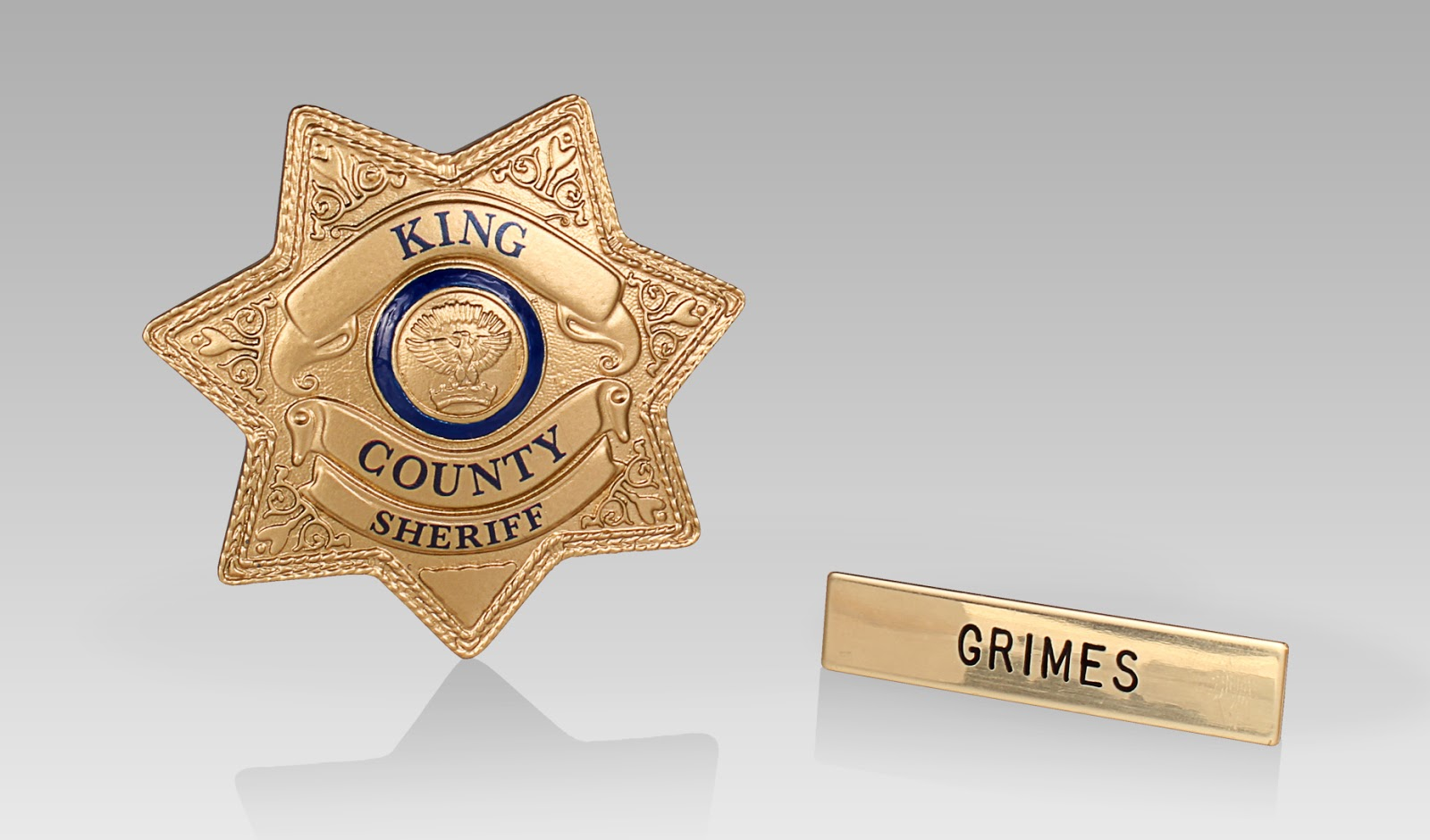 3a9a44a62af The Walking Dead Sheriff Rick Grimes Badge and Nameplate set are now  available for Pre-order!