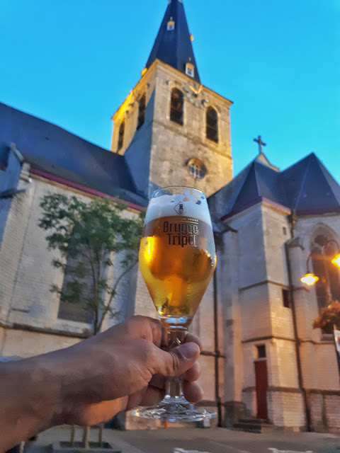 Brugse tripel at Bierboom in Lebbeke, Belgium