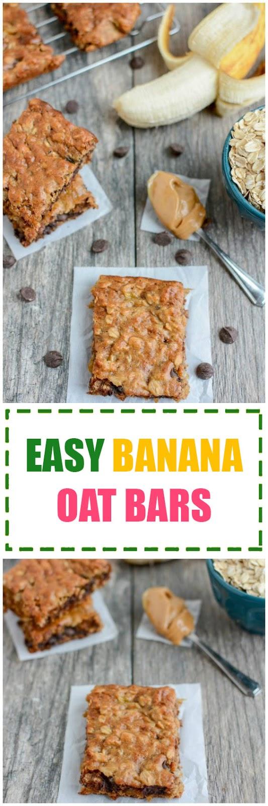 Easy Banana Oat Bars