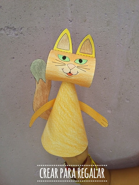 manualidades gatos en papel