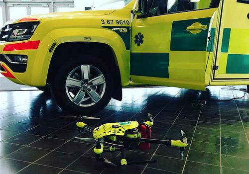 Tinuku FlyPulse defibrillator's ambulance reaches heart attack