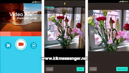 Envia videos cortos a tus amigos con Video for Kik