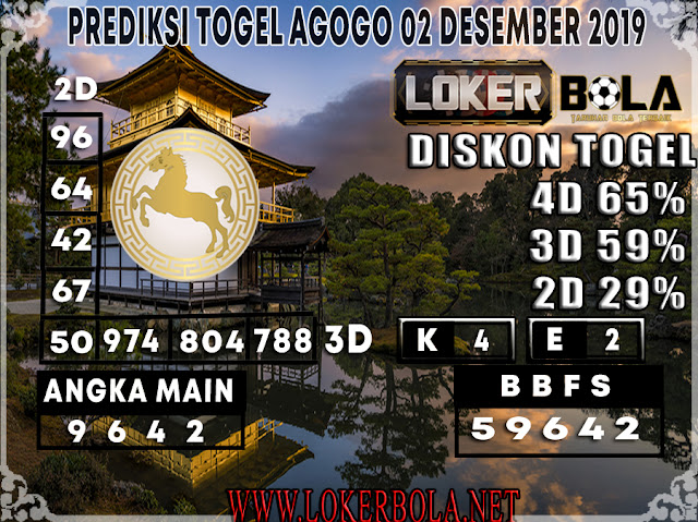 PREDIKSI TOGEL AGOGO LOKERBOLA 02 DESEMBER  2019