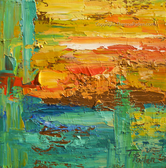 California Artwork Colorful Abstract Wall Art With Thick
