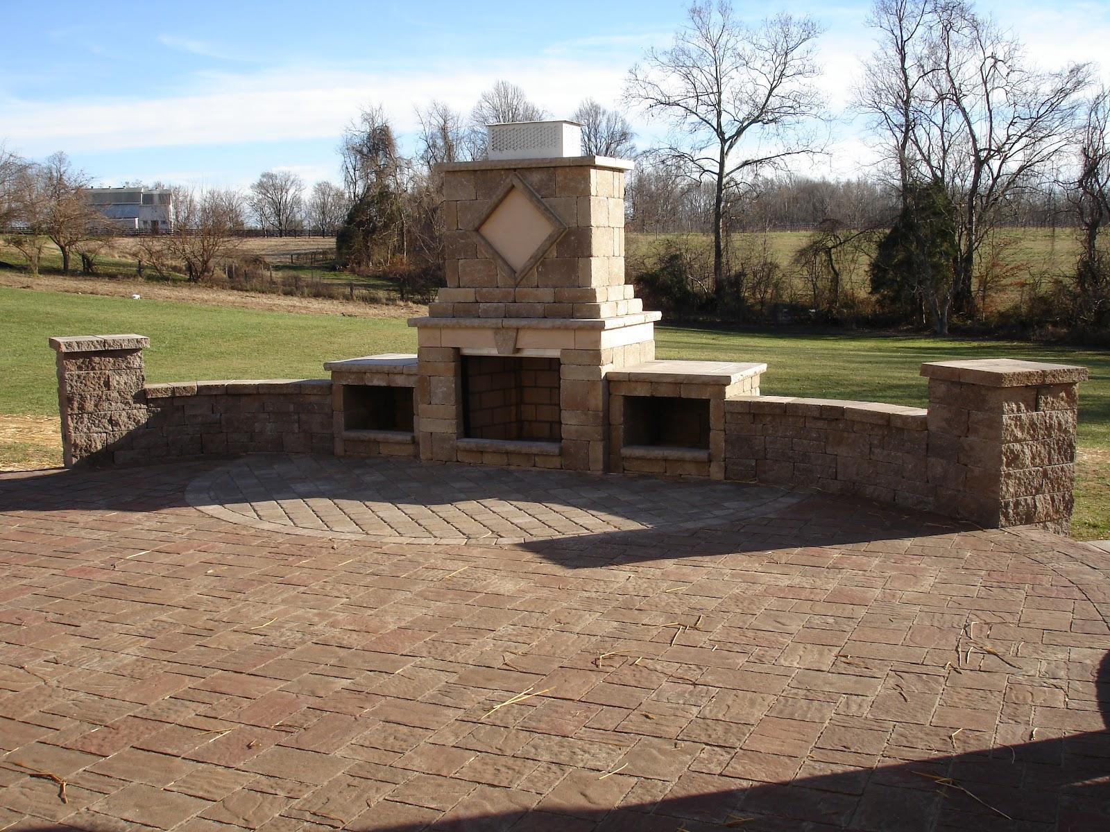 Life Time Pavers: Paver Patio Walls Steps & Fireplace