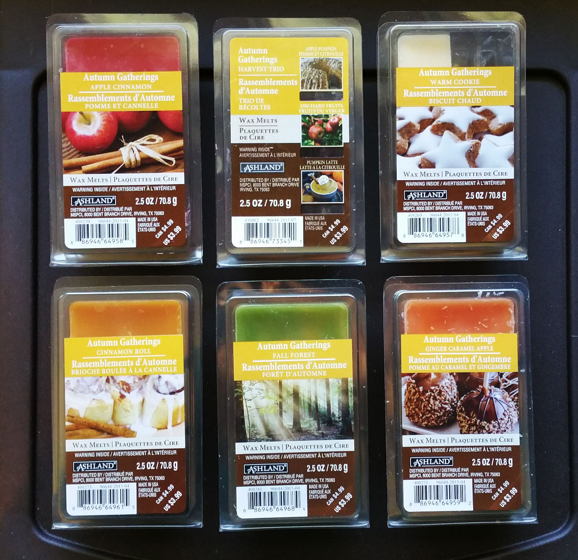 scented wax melt reviews ashland autumn gatherings scented wax melts review. Black Bedroom Furniture Sets. Home Design Ideas