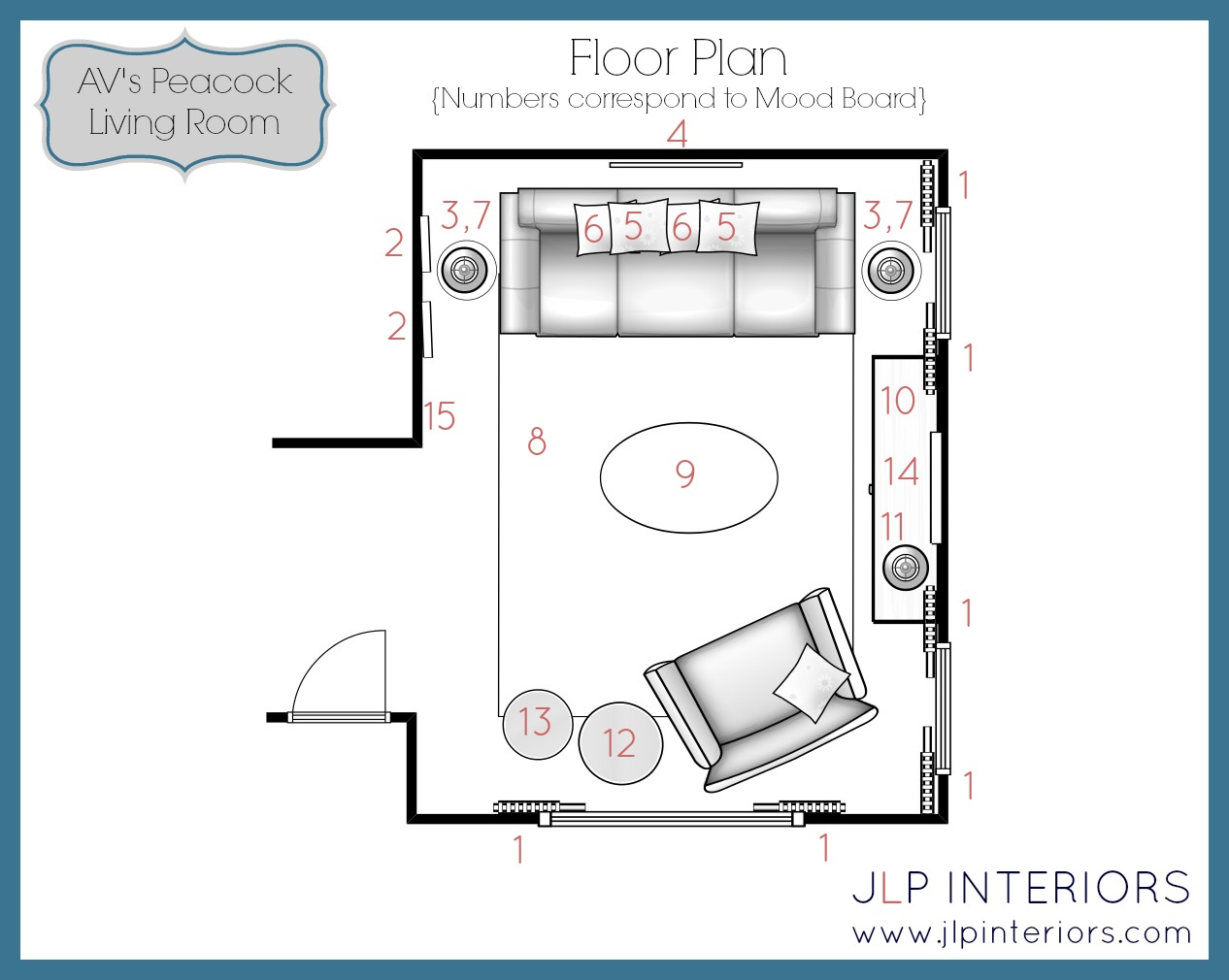 Living Room Floor Plans: Home With Baxter: E-Design: A Peacock