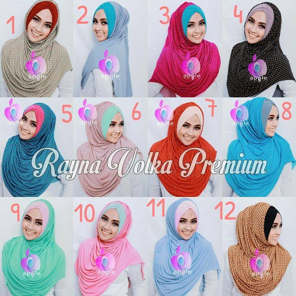 Jilbab Rayna Volka Premium By Apple Hijab Jual Jilbab Rayna