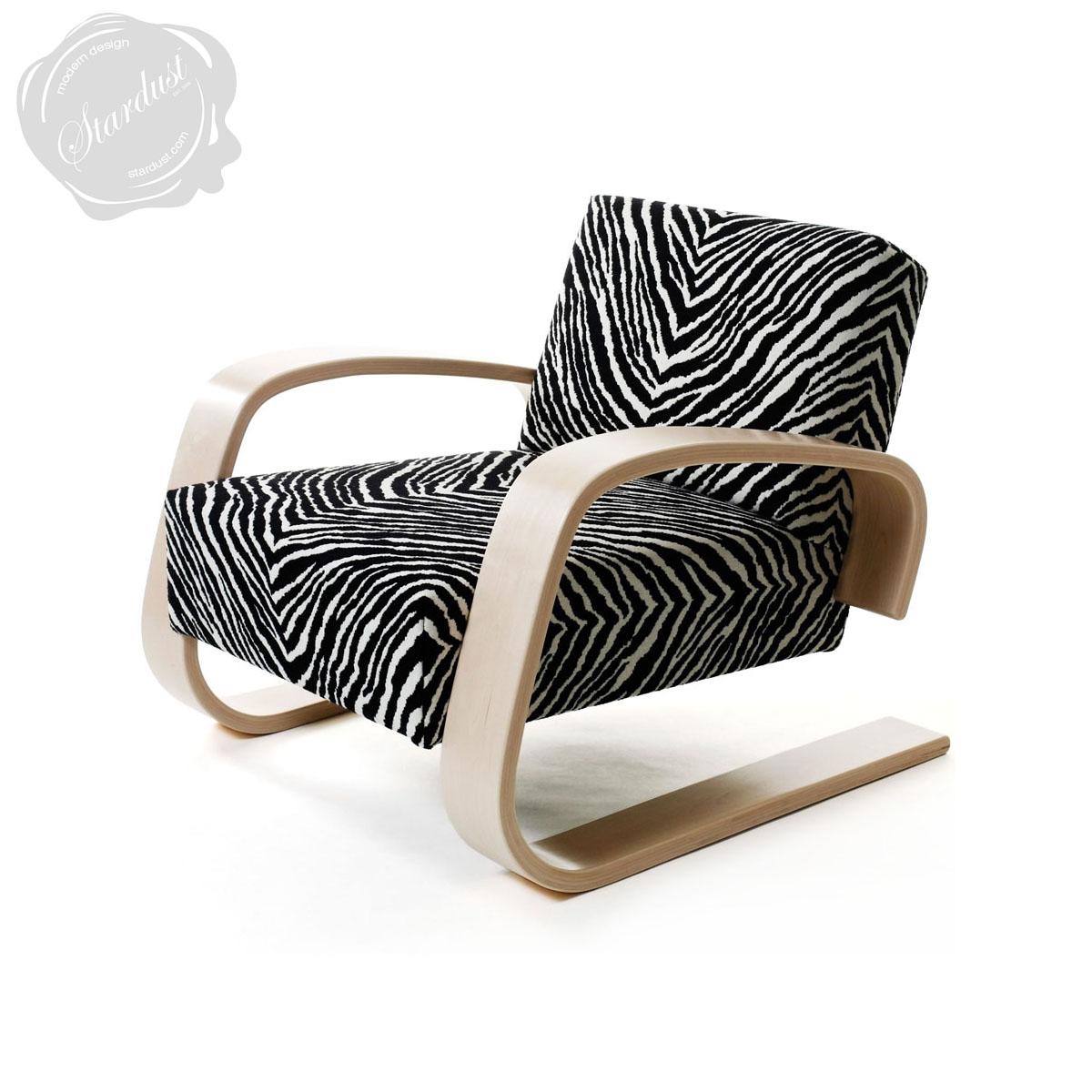 Tank Chair Zebra Wood Artek