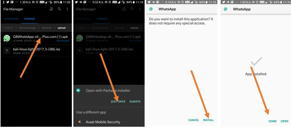 Install GBWhatsApp with original WhatsApp on Android