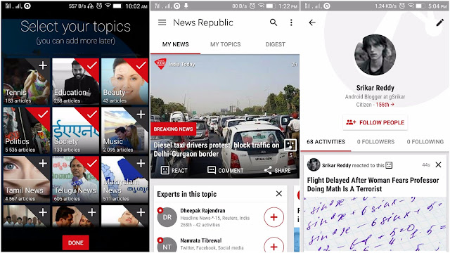 News Republic Android App Screenshot