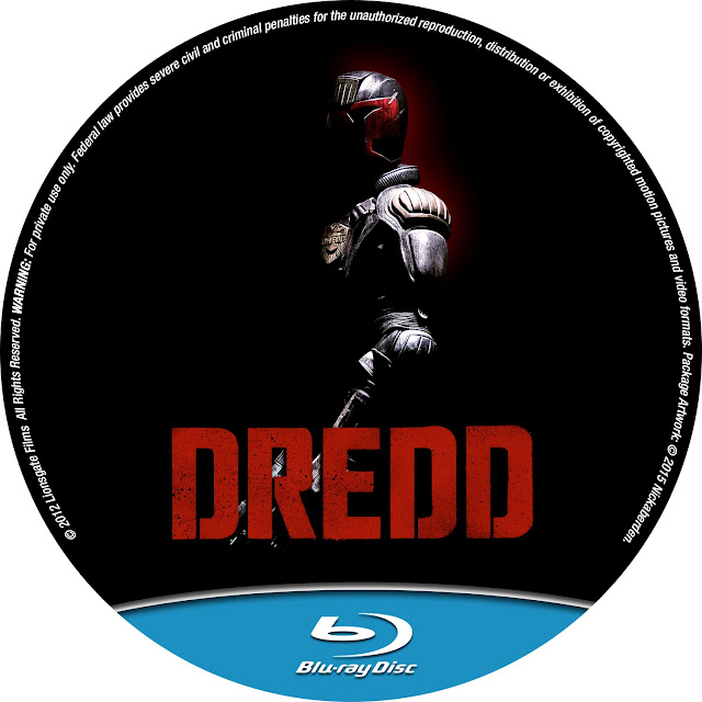 Dredd Bluray Label