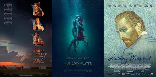 THREE BILLBOARDS OUTSIDE EBBING, MISSOURI / THE SHAPE OF WATER / LOVING VINCENT